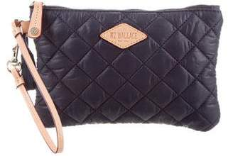 MZ Wallace Quilted Nylon Clutch w/ Tags