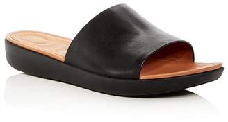 FitFlop Women's Sola Leather Platform Slide Sandals