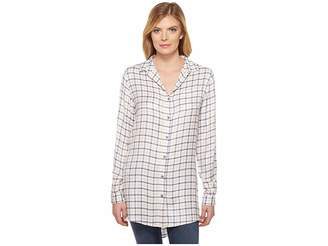 Jag Jeans Magnolia Tunic in Rayon Plaid Women's Blouse