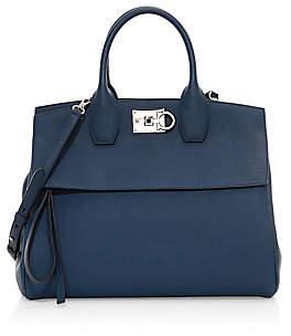 Salvatore Ferragamo Women's Medium Studio Leather Top Handle Bag