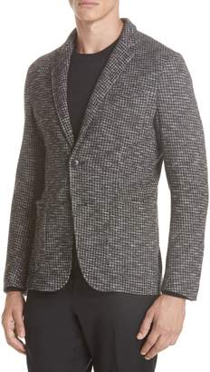 Ermenegildo Zegna Trim Fit Houndstooth Cotton & Wool Sport Coat