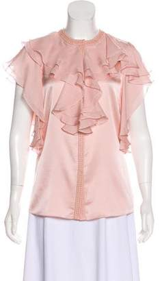 Thomas Wylde Embellished Silk Top w/ Tags