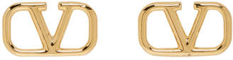 Valentino Gold Garavani VLogo Loop Earrings