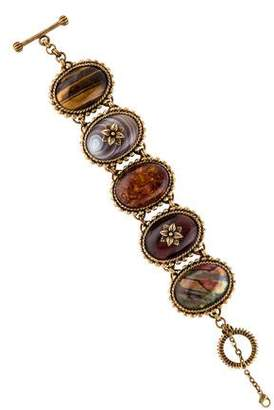Stephen Dweck Mother of Pearl & Multistone Link Bracelet
