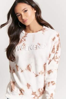Forever 21 Weekend Embroidered Sweatshirt