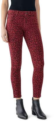 DL1961 Florence Leopard-Print Skinny Ankle Jeans in Amsterdam