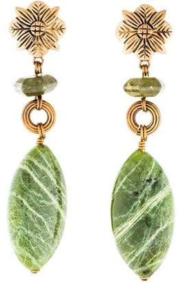 Stephen Dweck Idocrase & Jasper Drop Earrings