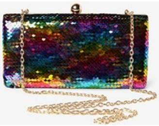 Dorothy Perkins Womens Multicolour Sequin Box Clutch Bag