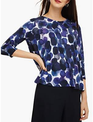 Phase Eight Water Colour Top, Purple