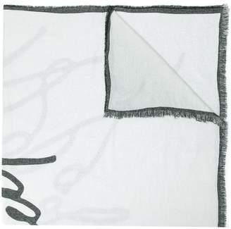 Karl Lagerfeld Signature scarf