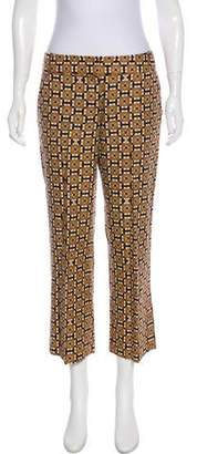Tory Burch Mid-Rise Patterned Pants