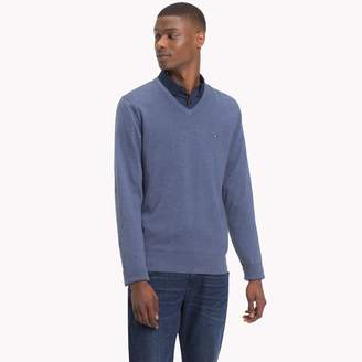 Tommy Hilfiger Cotton Silk V-Neck Sweater