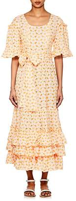 Lisa Marie Fernandez Women's January Embroidered-Eyelet Cotton Dress