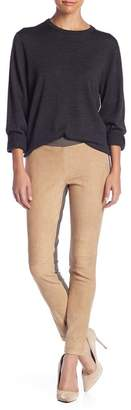 Lafayette 148 New York Skinny Moto Leather Pants (Petite)