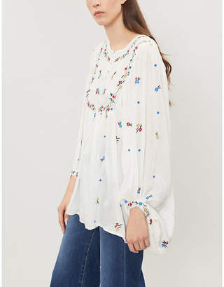 Free People Kiss from a Rose woven blouse