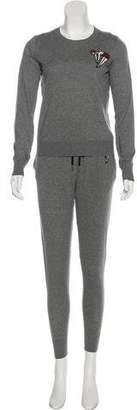 Markus Lupfer Embellished Lightweight Pant Set w/ Tags