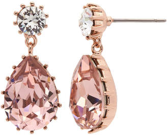 6ca23f97daf6 Swarovski CITY ROCKS City Rocks Made With Crystals Pink 14k Rose Gold Over  Brass Drop Earrings
