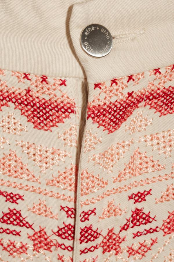 Vanessa Bruno Embroidered cotton-blend jeans