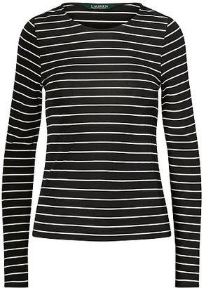 Ralph Lauren Lauren Striped Jersey Top $89.50 thestylecure.com