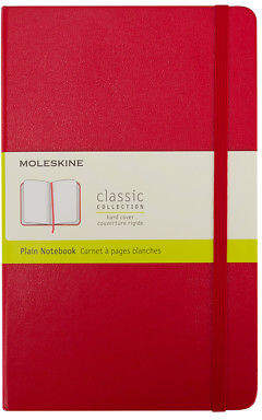 Moleskine NEW Classic Hard Cover Notebook Pocket Plain Red