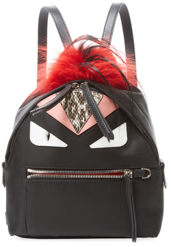 Bag Bug Fox Fur & Snakeskin Backpack