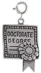 QVC Sterling Doctorate Degree Charm