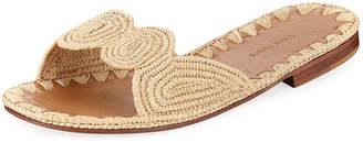 Carrie Forbes Naima Woven Raffia Slide Sandal