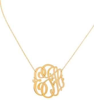 Jennifer Zeuner Jewelry Initial 'ejh' Monogram Necklace silver Initial 'ejh' Monogram Necklace