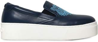 Kenzo 40mm Tiger Leather Slip-On Sneakers