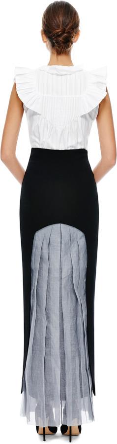 Natasha Zinko Back Pleat Maxi Skirt