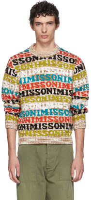 Missoni Multicolor Logo Crewneck Sweater