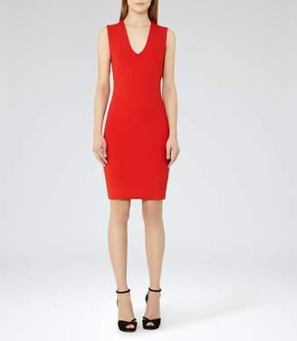 Reiss Elspeth Knitted Cowl-Neck Dress
