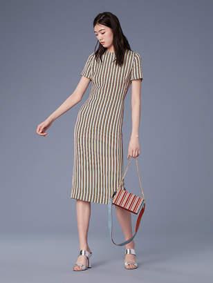 Diane Von Furstenberg Short-Sleeve Crew Neck Dress