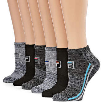 Fila Racing Stripe 6 Pair Low Cut Socks - Womens
