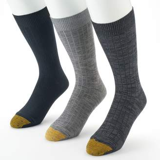 Gold Toe Goldtoe Men's GOLDTOE 3-pack Johnny Rib Casual Crew Socks