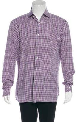 Isaia Gingham Button-Up Shirt