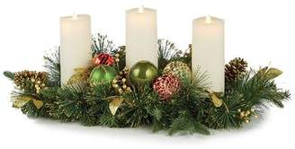 The Holiday Aisle Highland Holiday Candle Centerpiece