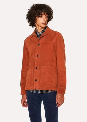 Paul Smith Men's Burnt Orange Suede Work Jacket