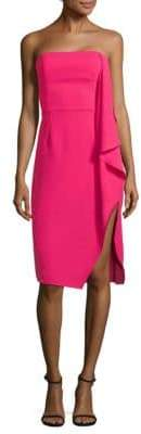 Halston Drape Knee-Length Dress