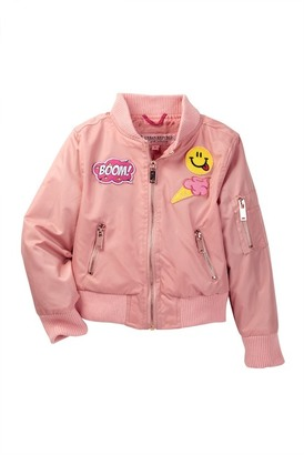 Urban Republic Poly Taffeta Twill Bomber Jacket (Little Girls) $72 thestylecure.com