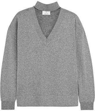 Metallic Wool-blend Sweater - Silver