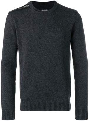 Les Hommes zipped shoulder knit sweater