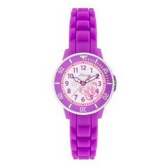 S'Oliver Girls' Analogue Quartz Watch with Silicone Strap - SO-2990-PQ