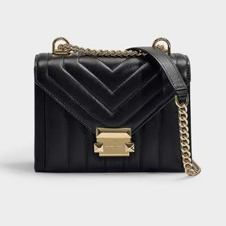 c698927b5326 MICHAEL Michael Kors Whitney Small Shoulder Bag In Black Quilted Lambskin