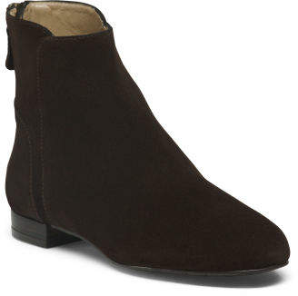 Made In Spain Suede Ankle Booties