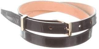 MAISON KITSUNÉ Patent Leather Buckle Belt