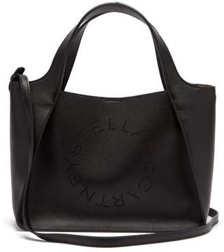 Stella McCartney Stella Perforated Logo Faux Leather Tote Bag - Womens - Black