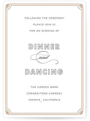 Modern Deco Letterpress Reception Cards