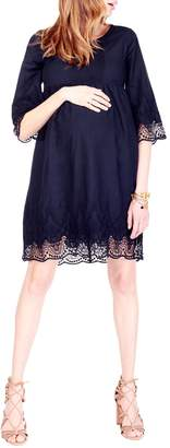 Ingrid & Isabel Lace Trim Bell Sleeve Dress