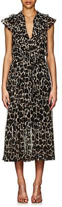 Robert Rodriguez Women's Leopard-Print Silk Maxi Dress - Neut. pat.